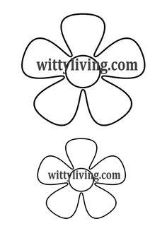 smaller flower template