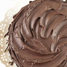 A delicious Mexican chocolate frosting recipe that is meant for the true chocolate lover.. Mexican Chocolate Frosting Recipe from Grandmothers Kitchen.