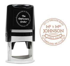Mr and Mrs Self Inking Stamper