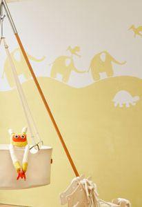#Muurschildering met olifanten | #Mural with elephants #DIY