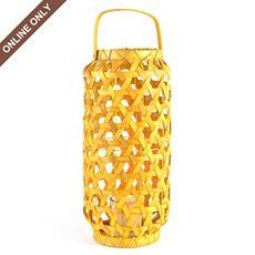 Woven Wood Lantern at Kirkland's several different color and 2 sizes