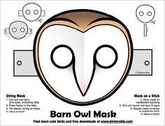 My Owl Barn: Halloween Printable Owl Masks