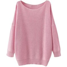 Womens Casual Slash Neck Long Sleeve Pullover Sweater Pink ($25) ❤ liked on Polyvore featuring tops, sweaters, pink, pink sweater, boat neck tops, boatneck top, bateau neck tops and long sleeve pullover sweater