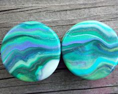 Custom Ear Plugs, Polymer Clay Ear Gauges, Glow in the Dark Ear Plugs-Any Size 8G (3.2 mm)-1 inch (25 mm), Larger Sizes Available