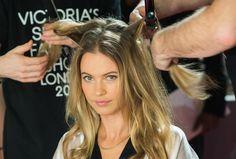 Diese Fehler dürfen Sie beim Glätten Ihrer Haare auf keinen Fall machen!! - Model Behati Prinsloo backstage bei Victoria's Secret