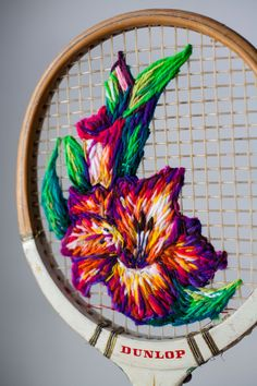 Wool embroidery on an old tennis racquet!  island-details.jpg