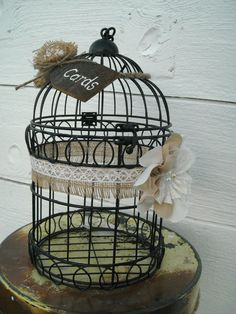 Wedding Bird Cage Card Holder  Rustic Card by MyMontanaHomestead, $44.00