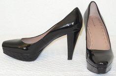 Elie Tahari Patent Leather Black Pumps