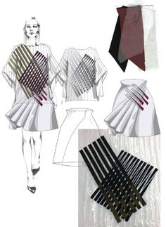 Fashion Sketchbook - fashion illustration & textiles; fashion portfolio // Hannah Cook