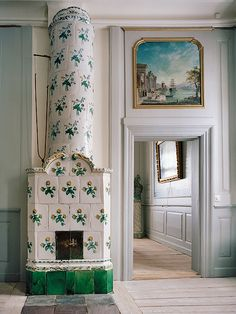 18th C Swedish Castles & Manor Houses - Gustavian Tiled Stoves and their Interior Settings - Hano