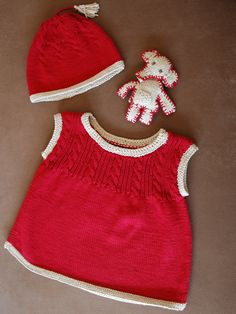 baby jumper-skirt and cap