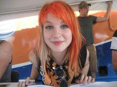 Hayley Williams Bright Orange Bang