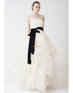 Eglise Traîne moyenne Sans bretelles Robes de mariée 2014