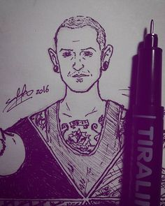 Chester. LP 6/6 #wafspr  __________ #ink #inktober2016 #inked #blackandwhite #bnw #drawing #sketch #sketching #challenge #inktoberfest #doodles #doodle #illustration #artist #art #drawings #linkinpark #lp #chesterbennington #mikeshinoda #braddelson #robbourdon #mrjoehahn #phoenixfarrell #music #linkinparkchile2017 #chilewantslinkinpark #artwork  @linkinpark @chesterbe @m_shinoda @mrjoehahn @phoenixlp @linkin.park.lyrics @linkinparkfancovers