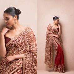 Indian Couture Saree: 8,767 Likes, 42 Comments - Shyamal & Bhumika (@shyamalbhumika) on Instagram) via @topupyourtrip