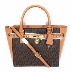 NWT Michael Kors Hamilton Large Brown Acorn PVC Tote Bag Handbag New #MichaelKors #TotesShoppers