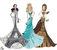 Fashion Dresses Drawing - Dress Collection Fashion Style