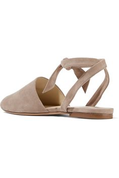 Alexandre Birman - Lace-up Suede Flats - Taupe - IT35