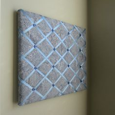 16x20 Memory Board Bow Holder Silver Rain Batik by MemoriestoYou, $68.00