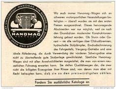 Original-Werbung/Inserat/ Anzeige 1937 - 1/2-SEITE - HANOMAG - ca. 110 X 145 mm