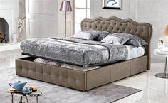 Una camera da letto chic e raffinata? La risposta è Carola in similpelle effetto nabuk elephant.