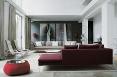 1 Damson Color Living Room Decoration