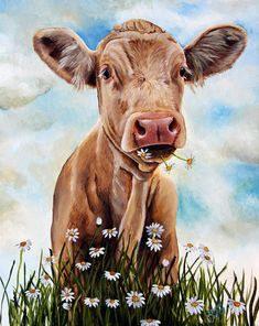 Charolais Lunch Painting  - Charolais Lunch Fine Art Print