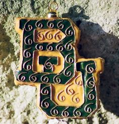 Baylor Cloisonne Ornament - Can be customized