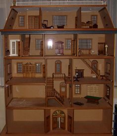 dollhouse with 12 rooms and the central staircase!!