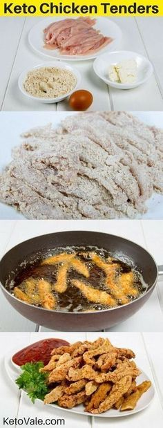 Easy Fried Chicken Tenders with Almond Flour Low Carb Recipe - - Easy Fried Chicken Tenders with Almond Flour Low Carb Recipe Keto/Low Carb recipes Low Carb Chicken Tenders Recipe Ketogenic Recipes, Low Carb Recipes, Diet Recipes, Dessert Recipes, Ketogenic Diet, Snacks Recipes, Breakfast Recipes, Zoodle Recipes, Pescatarian Recipes