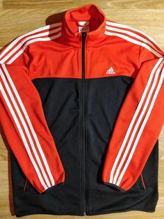 3b0ec2977f4 Adidas 90 s Vintage Mens Tracksuit Top Jacket Red Navy Blue