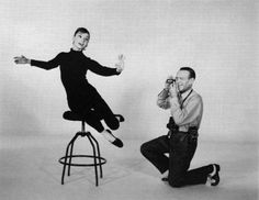 Audrey Hepburn and Fred Astaire for 'Funny Face', 1957.