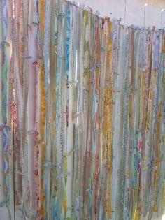 Joy's Hope: Scrappy vintage sheet garland DIY