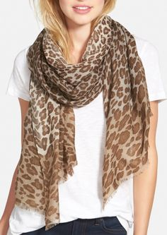 The perfect scarf for fall! The leopard print will go with just about anything. Super lightweight and easy to layer.
