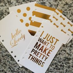 5pcs/SET Gold Foil Series 5 Sections Dividers / by PartyChicShop