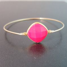 Pink Chalcedony Bracelet Pink Chalcedony Jewelry by FrostedWillow, $39.95
