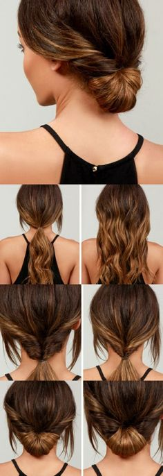 schnelle-frisuren-mittellange-braune-haare-haarfrisur-frauen-selber-machen