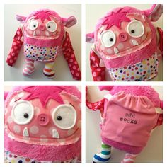 Cute Sock Monsters | Pink Sock Monster