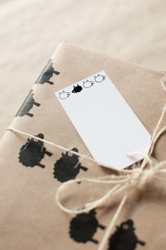 Bah Bah Black Sheep - set of 5 gift tags by ToodlesNoodles on Etsy, $6.75