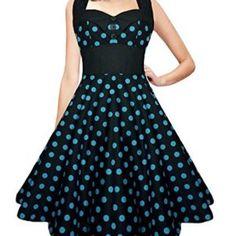 b0ee6eb5f11 Lady Mayra Ashley Polka Dot Dress Vintage Rockabilly Pin Up Retro Style  Gothic Lolita Steampunk Swing Prom Party Plus Size Clothing
