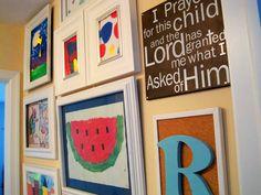 Kids Art Work Display