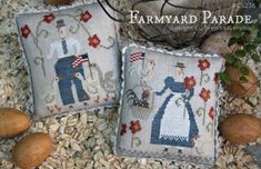 New! WITH THY NEEDLE Farmyard Parade counted cross stitch patterns at thecottageneedle.com by thecottageneedle