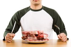 A hungry man eating steak – zero carb diet theme. Best Protein, Protein Diets, No Carb Diets, High Protein, Eating Too Much Protein, Healthy Eating, Healthy Foods, Zero Carb Diet, Protein To Build Muscle