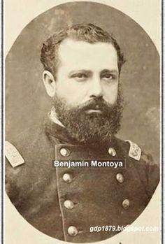 Sargento Mayor Benjamín Montoya (?-1880), Ingresó al ejército en 1866 como cadete del arma de Artillería. Participa en el bombardeo de Antofagasta en el cañón del lado sur, Toma de Pisagua, Batalla de San Francisco a cargo de una batería de seis cañones y dos ametralladoras Gatling, Tacna y Arica
