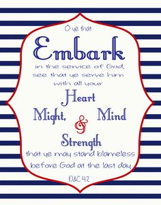 Embark in the service of God 2015 Theme poster- Free Download So many analogies... anchor, lighthouse, life preserver