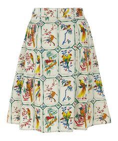 Look what I found on #zulily! White Bird A-Line Skirt #zulilyfinds