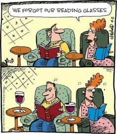 "Can't read without your ""glasses"""