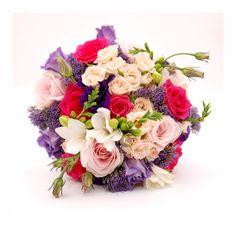 Happy coloured wedding bouquet