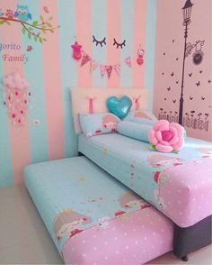 Home Decoration Ideas Front Doors .Home Decoration Ideas Front Doors Cute Room Decor, Teen Room Decor, Room Decor Bedroom, Pink Bedroom For Girls, Cool Kids Bedrooms, Unicorn Room Decor, Girl Bedroom Designs, Kids Bedroom Furniture, Girl Room
