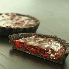 Cherry ripe tartlets, yum !